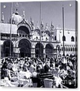 Jazz In Piazza San Marco Black And White  Acrylic Print
