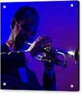 Jazz Man David Hardiman On The Trumpet Acrylic Print
