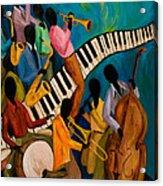 Jazz On Fire Acrylic Print by Larry Martin