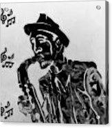 Jazz Saxophone Man Acrylic Print