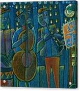 Jazz Time At Club Jazz Acrylic Print