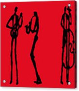 Jazz Trio In Red 2 Acrylic Print