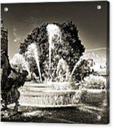 Jc Nichols Memorial Fountain Bw 1 Acrylic Print