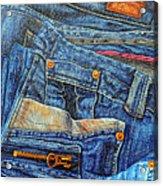 Jean Junkie Acrylic Print