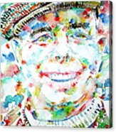 Jean Renoir Watercolor Portrait Acrylic Print