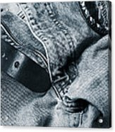 Jeans And Denim In Blue Acrylic Print by Christian Lagereek