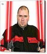 Jedi Master Randall M Rueff And Lightsaber Thirty Five Acrylic Print