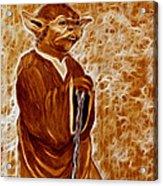 Jedi Master Yoda Digital From Original Coffee Painting Acrylic Print