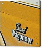 Jeep Grand Wagoneer Side Emblem Acrylic Print