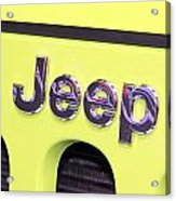 Jeep Logo Acrylic Print