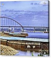 Jefferson Barracks Bridge A View From Cliff Cave Acrylic Print
