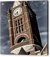 Jefferson County Courthouse Clock Tower Acrylic Print