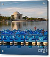 Jefferson Memorial And Paddle Boats Acrylic Print