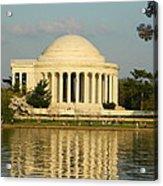 Jefferson Memorial At Sunset Acrylic Print