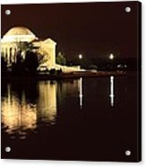 Jefferson Memorial From Across The Tidal Pool Acrylic Print