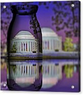 Jefferson Memorial In A Bottle Acrylic Print by Susan Candelario
