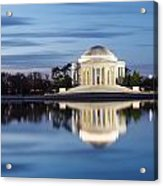 Washington Dc Jefferson Memorial In Blue Hour Acrylic Print