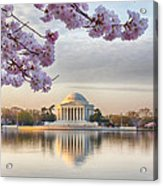 Jefferson Memorial In The Early Morning Acrylic Print