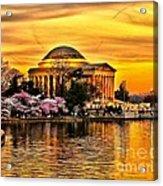 Jefferson Memorial Sunset Acrylic Print