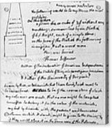 Jefferson: Tombstone Acrylic Print