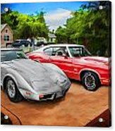 Jeffs Cars Corvette And 442 Olds Acrylic Print