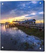 Jekyll Island Sunset Acrylic Print by Debra and Dave Vanderlaan
