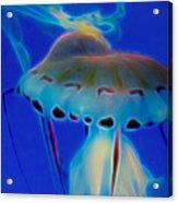 Jellyfish 2 Digital Artwork Acrylic Print