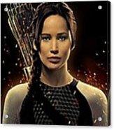 Jennifer Lawrence As Katniss Everdeen Acrylic Print