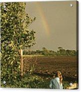 Jennifer's Rainbow Acrylic Print