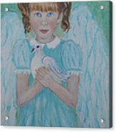 Jenny Little Angel Of Peace And Joy Acrylic Print by The Art With A Heart By Charlotte Phillips