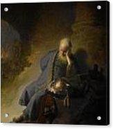 Jeremiah Lamenting The Destruction Of Jerusalem Acrylic Print