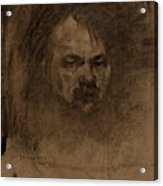 Jerome Myers, Self-portrait, American, 1867 - 1940 Acrylic Print