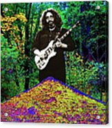 Jerry At The Cosmic Pyramid In The Woods  Acrylic Print