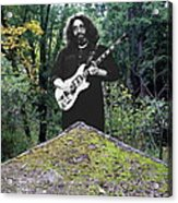 Jerry At The Pyramid In The Woods Acrylic Print