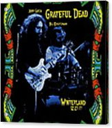 J G And B K At Winterland In 1977 Acrylic Print