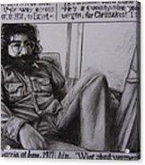 Jerry Garcia....taken From Rollingstone Interview 1972 Acrylic Print