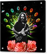 Jerry Spacepods Ufo Roses 1 Acrylic Print