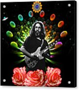 Jerry Spacepods Ufo Roses Under Cosmic Sun Acrylic Print