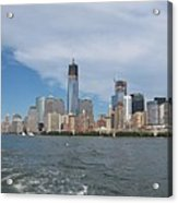 Jersey City And Hudson River Acrylic Print