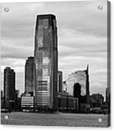 Jersey City New Jersey Waterfront And 10 Exchange Place New York City Acrylic Print