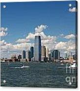 Jersey City Skyline From Harbor Acrylic Print
