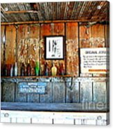 Jersey Lilly Saloon Acrylic Print