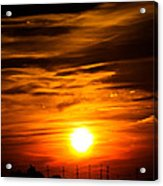 Jersey Shore Sunset Acrylic Print