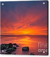 Jersey Shores Fire In The Sky Version 2 Acrylic Print
