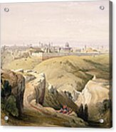 Jerusalem From The Mount Of Olives Acrylic Print by David Roberts