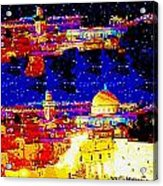 Jerusalem Maala Ve Mata Acrylic Print