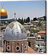Jerusalem Old City Domes Acrylic Print