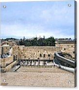 Jerusalem The Western Wall Acrylic Print