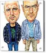 Jesse Pinkman And Walter White Acrylic Print by Art