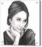Jessica Alba Acrylic Print
